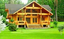 Деревянный дом и мебель для него